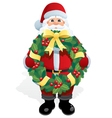 santa with wreath vector image vector image