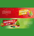 christmas sale banner advertising background vector image