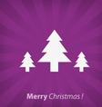 Christmas tree christmas icon vector image