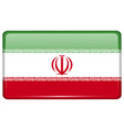 Flags Iran in the form of a magnet on refrigerator vector image