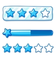 Game ice menu star progress bar vector image