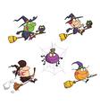 Happy Halloween Cartoon Characters vector image