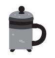 isolated pixelated teapot vector image