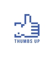 retro pix element thumbs up icon vector image