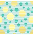 Seamless geometric striped pattern with circles vector image