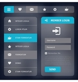 user interface with menu and icons vector image