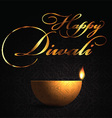 decorative lamp background for diwali 2109 vector image