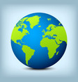 Blue and green globe icon vector image