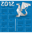 origami calendar for 2012 vector image