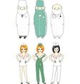 comic doctors vector image