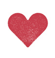 Red stamped heart vector image vector image