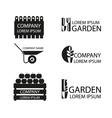 A set of garden logos vector image