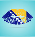 bosnia and herzegovina flag lipstick on the lips vector image