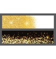 Gold sparkles Christmas Banners vector image