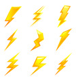 lightning bolts vector image