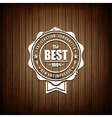 Premium Seal Wooden Background vector image