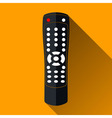 Remote Control Icon Long Shadow Design vector image