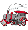steam engine cartoon character vector image