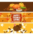 Thanksgiving Day Banner Set vector image