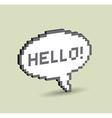 Hello bubble vector image