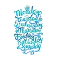 Days of Week vector image vector image