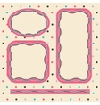 Frame set in pink colors vector image