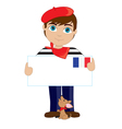 French Boy Sign vector image vector image