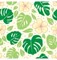 tropical seamless floral background vector image