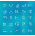 Business Chart Graph and Finance Line Icons Set vector image