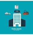 Hotel design Service icon Flat vector image