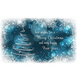Christmas postcard New Year greeting card vector image