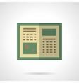 Green tutorial flat color icon vector image