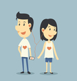 Happy couple in love with playing song vector image