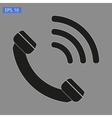 Icon of phone on grey vector image