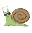 snail in sunglasses vector image