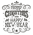 Merry Christmas and Happy New Year Conceptual vector image