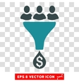 Sales Funnel Icon vector image