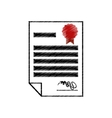 certificate document award icon design vector image