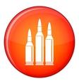 Bullet ammunition icon flat style vector image