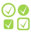check mark stickers in eco green color vector image vector image