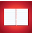 blank pages of paper vector image vector image