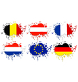 Flags of Europe as spots vector image