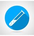 Test tube flat round icon vector image