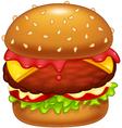 Cartoon burger vector image