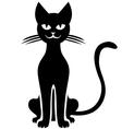 cat black vector image vector image
