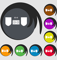 Scoreboard icon Symbols on eight colored buttons vector image