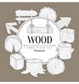 Wood Vintage Sketch vector image
