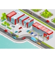 Auto Service Isometric Composition vector image