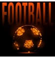 football fire ball vector image