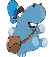 A little hippo postman Cartoon vector image